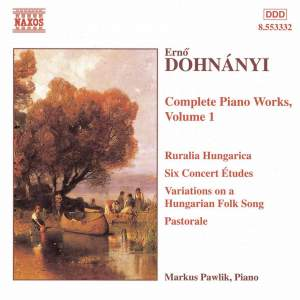 Dohnányi: The Complete Piano Works Vol. 1