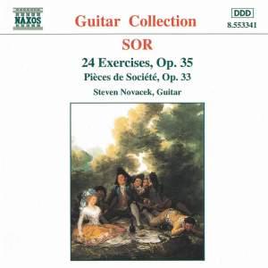 Sor: 3 Pieces de Societe & 24 Etudes for guitar Product Image