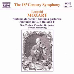 Leopold Mozart: Sinfonia da caccia, Sinfonia pastorale & other sinfonias Product Image