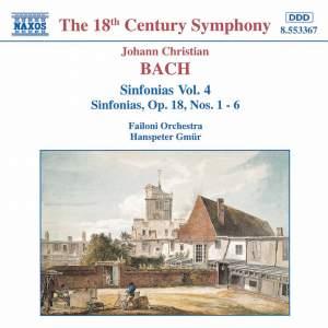 J. C. Bach: Sinfonias, Vol. 4 Product Image