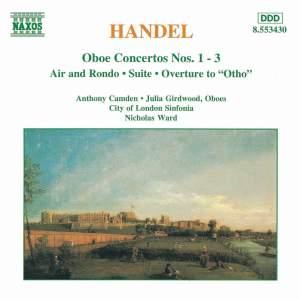 Handel: Oboe Concertos Nos. 1-3 & other orchestral works Product Image
