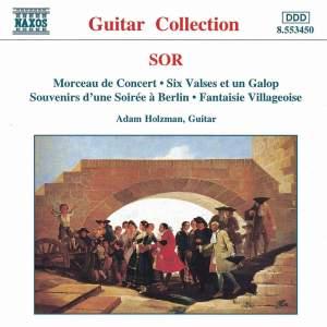 Sor: Morceau de Concert, Six Valses et un Galop & other guitar works Product Image