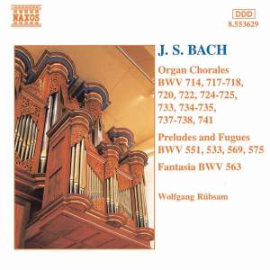 J S Bach - Organ Chorales, Preludes and Fugues Product Image
