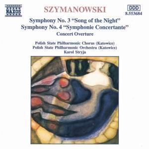 Szymanowski - Symphony Nos. 3 & 4 Product Image