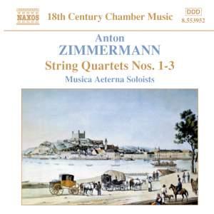 Zimmermann, A: String Quartets Op. 3 Nos. 1-3 Product Image