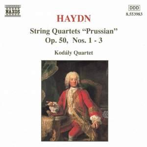 Haydn: String Quartets Op. 50 Nos. 1-3 Product Image