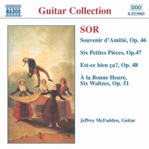 Sor: Souvenir d'Amitié, Six Petites Pièces & other works for solo guitar Product Image
