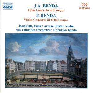 Benda, G: Viola Concerto in F major, etc.