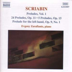 Scriabin: Preludes, Vol. 1