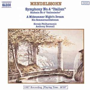 Mendelssohn: Symphony No. 4 & A Midsummer Night's Dream (Excerpts) Product Image