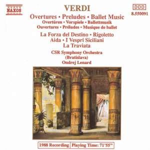 Verdi - Overtures, Preludes & Ballet Music Product Image