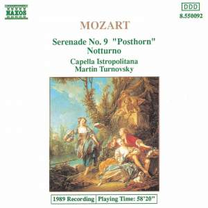 Mozart: 'Posthorn' Serenade & Notturno in D major Product Image
