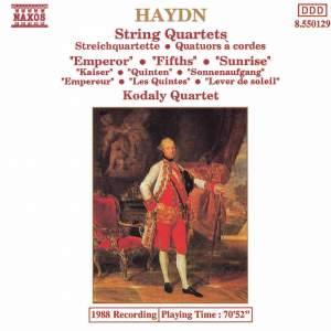 Haydn: String Quartet, Op. 76 No. 2 in D minor 'Fifths', etc. Product Image