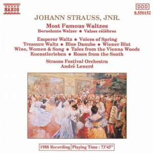 Most Famous Waltzes by Johann Strauss II Product Image