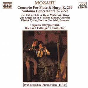 Mozart: Concerto for Flute and Harp, Sinfonia Concertante k297b Product Image