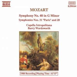 Mozart: Symphonies Nos. 28, 31 & 40