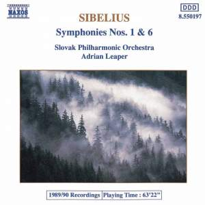 Sibelius: Symphonies Nos. 1 and 6 Product Image