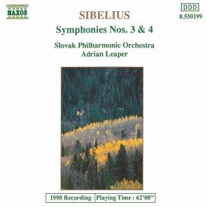 Sibelius: Symphonies Nos. 3 and 4 Product Image