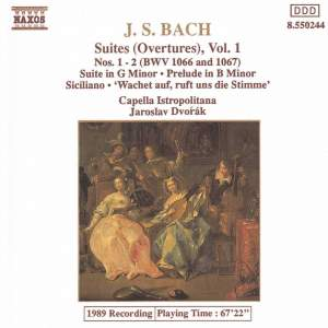JS Bach: Orchestral Suites Nos. 1 and 2, BWV 1066-1067 Product Image