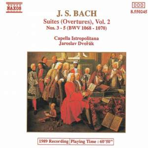 JS Bach: Orchestral Suites Nos. 3-5, BWV 1068-1070 Product Image