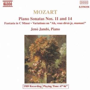 Mozart: Fantasia, Piano Sonatas Nos. 11 & 14 and Variations on 'Ah, vous dirai-je, Maman' Product Image