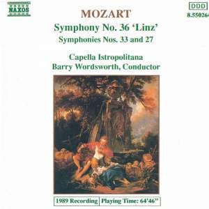 Mozart: Symphonies Nos. 27, 33 & 36 Product Image