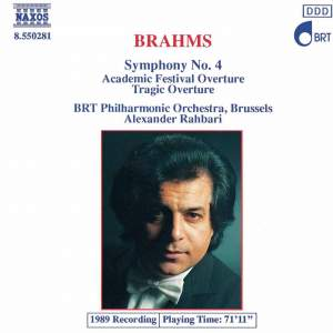 Brahms: Symphony No. 4 in E minor, Op. 98, etc. Product Image