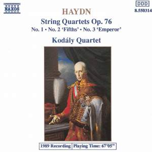 Haydn: String Quartet, Op. 76 No. 1 in G major, etc.