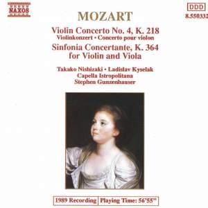 Mozart: Violin Concerto No. 4 & Sinfonia Concertante Product Image