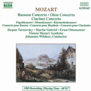 Mozart: Bassoon, Oboe & Clarinet Concertos Product Image