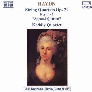 Haydn String Quartets Op. 71 Nos. 1-3 Product Image