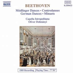 Beethoven: Mödlinger Tänz, Contredanses, Deutsche Tänze & Minuets Product Image