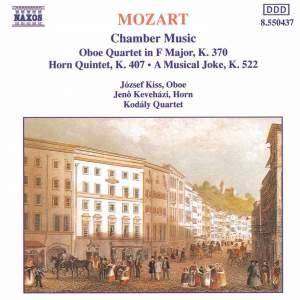 Mozart: Oboe Quartet in F major, K370, etc. Product Image