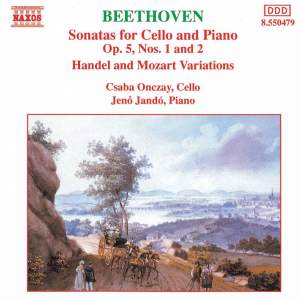 Beethoven: Sonatas for Cello and Piano Nos. 1 & 2 Product Image