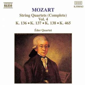 Mozart: String Quartets (Complete), Vol. 4 Product Image