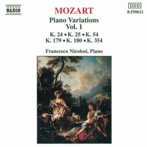 Mozart: Piano Variations, Vol. 1