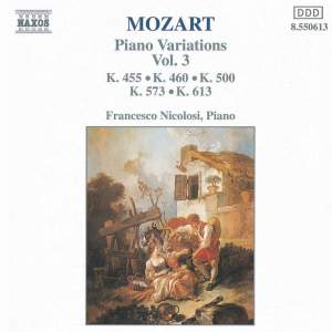 Mozart: Piano Variations, Vol. 3 Product Image