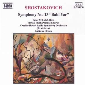 Shostakovich: Symphony No. 13 in B flat minor, Op. 113 'Babi Yar' Product Image
