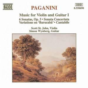 Paganini: Music For Violin And Guitar, Vol. 1 Product Image