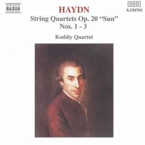 Haydn: String Quartet Op. 20 Nos. 1-3 Product Image