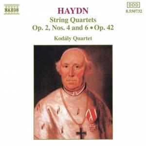 Haydn: String Quartets Op. 42 Nos. 1, 4 & 6 Product Image