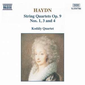 Haydn: String Quartets Op. 9 Nos. 1, 3 & 4 Product Image