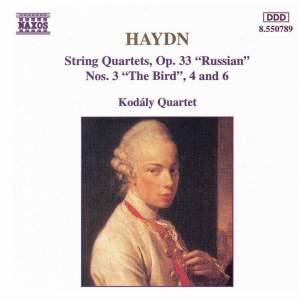 Haydn: String Quartets Op. 33 Nos. 3, 4 & 6