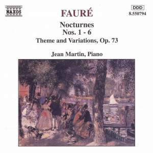 Fauré: Nocturnes Nos. 1-6 and Thème & Variations Product Image