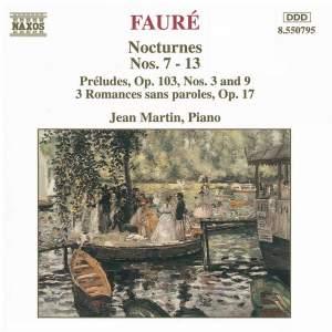 Fauré: Nocturnes Nos. 7-13, Préludes Op. 103 Nos. 3.& 9, Romances sans paroles Product Image