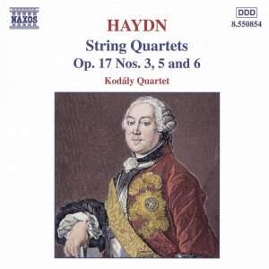 Haydn: String Quartet, Op. 17 No. 6 in D major, etc. Product Image
