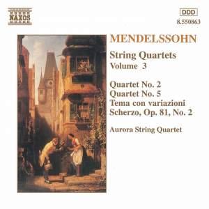 Mendelssohn: String Quartets. Vol. 3 Product Image