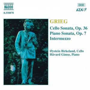 Grieg: Piano Sonata, Intermezzo, Cello Sonata Product Image