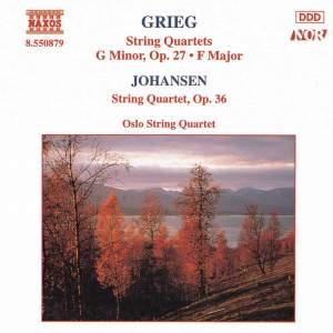 Grieg: String Quartet in G minor, Op. 27, etc. Product Image