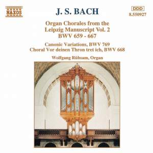 J. S. Bach: Organ Chorales From The Leipzig Manuscript, Vol. 2 Product Image